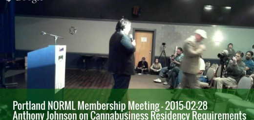 "Measure 91's Anthony Johnson: ""There Will Be Some Type of a Residency Requirement"" for Oregon Marijuana Businesses"
