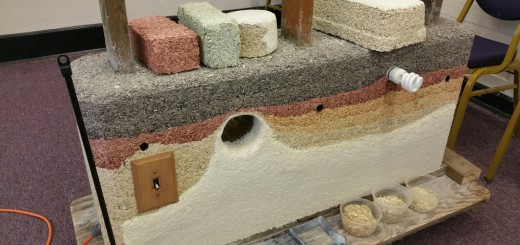 A demonstration model of Hempcrete applications