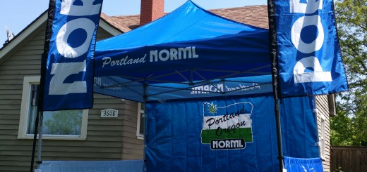 You'll certainly be able to find us on the square in our new Portland NORML Booth