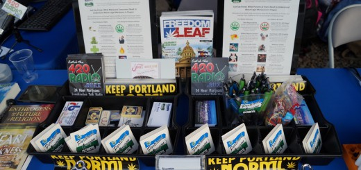We've got infocards on the law, Keep Portland NORML stickers, and Freedom Leaf Magazines we need you to distribute